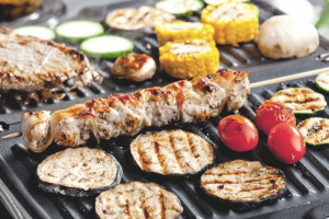 The best outdoor electric grill is working